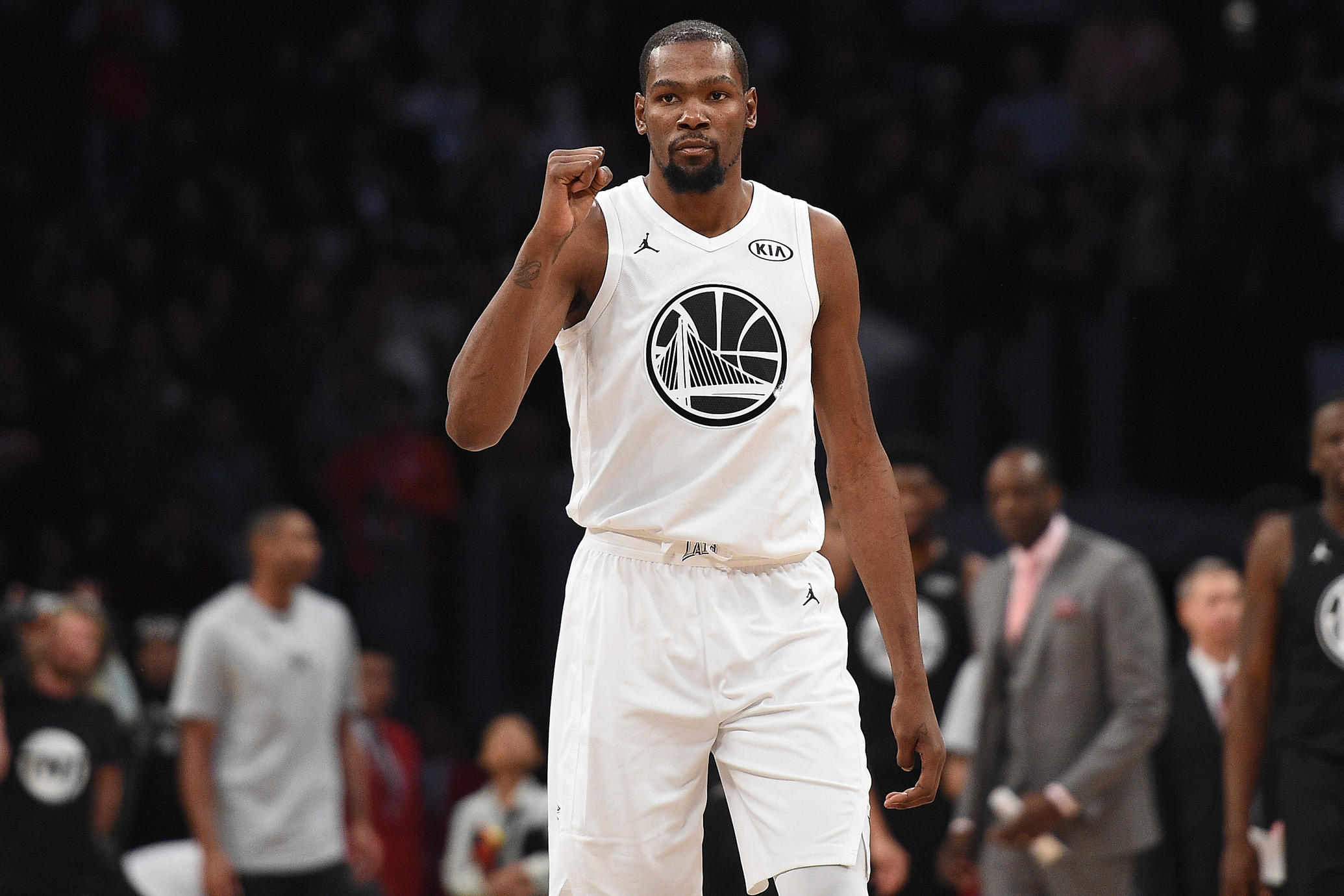 Kevin Durant | Photo Credits: Kevork Djansezian, Getty Images